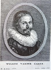 Portrait engraving of Willem van der Camer