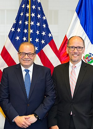 Tom Perez - Perez with José Tomás Pérez, Dominican Republic Ambassador to the United States