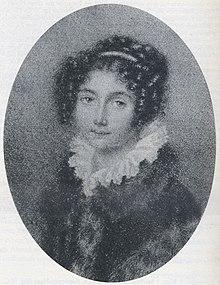 Gräfin Josephine Brunsvik als Gräfin Deym, unbezeichnete Bleistift-Miniatur, vor 1804 (Quelle: Wikimedia)