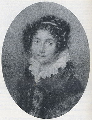 Immortal Beloved - Josephine Brunsvik, miniature drawn by pencil, before 1804.