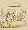 Jules Pascin - Figure Group, Man with Green Plaid Trousers - BF608 - Barnes Foundation.jpg
