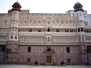 Junagarh Fort - Entrance eastern façade of the Junagarh Fort