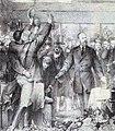 König Karl von Württemberg beim Empfang von Studenten und Professoren 1877 Radierung.jpg