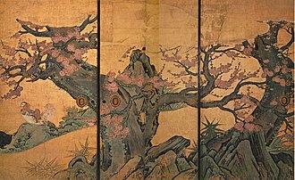Kanō Sanraku - Image: K.Sanraku Plum