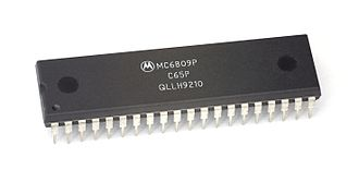 Motorola 6809 - 1 MHz Motorola 6809P processor, is a C65P mask set manufactured the tenth week of 1992