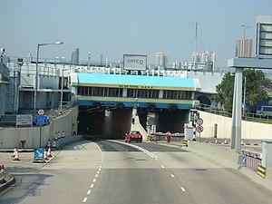 Aircraft bridge - Kai Tak Tunnel east entrance, near the old Kai Tak airport