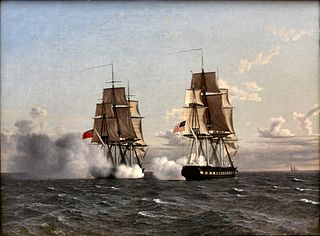 Naval warfare Combat involving sea-going ships