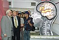 Kapil Sibal and Mr. Julius G Luy, Charge D' Affaires, Embassy of Federal Republic of Germany are going round at the photo exhibition of the Closing Ceremony of the Science Express, in New Delhi on June 04, 2008.jpg