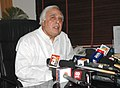 "Kapil Sibal briefing the media after releasing the ""National Curriculum Framework for Teacher Education – Towards Preparing Professional and Humane Teacher"", in New Delhi on March 19, 2010.jpg"