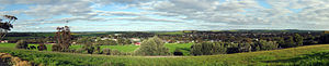 Kapunda - Panoramic view of the town of Kapunda, as seen from Gundry's Hill Lookout on the outskirts of the town.