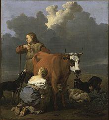 L'histoire du Comté de Bourgogne dans Bourgogne 220px-Karel_Dujardin_-_Woman_Milking_a_Red_Cow