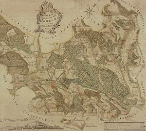 Karlsberg Castle - Image: Karlsberg Karte