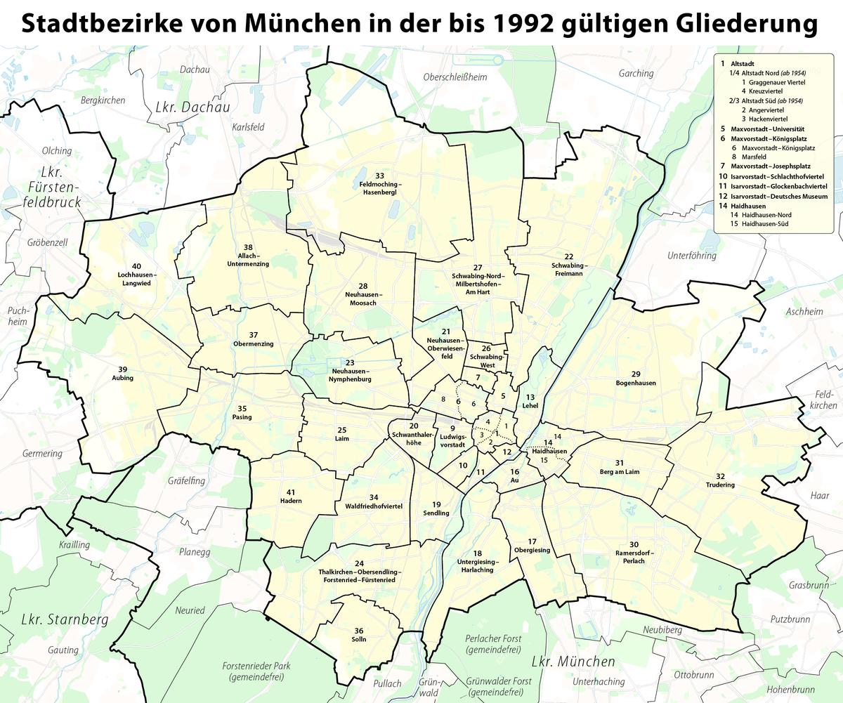 Boroughs Of Munich Wikipedia