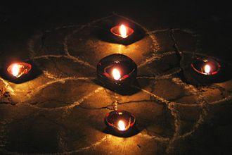 Karthikai Deepam - Agal vilakku (oil lamps) during the occasion of Karthigai Deepam