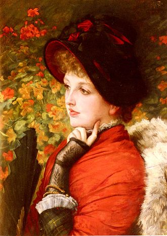 Kathleen Newton - Painting by Jacques Tissot, A Type of Beauty, 1880.