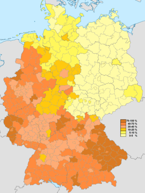 Old states of Germany - Image: Katholisch Zensus 2011