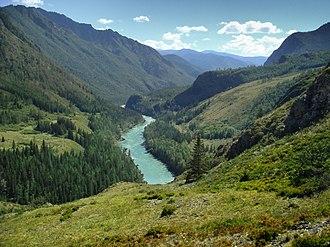 Altai Republic - Katun River in the Altai Republic.