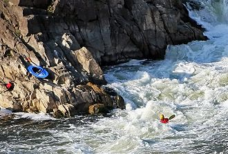 Kayaking - Whitewater kayaking at Great Falls, Virginia