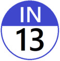 Keio IN13 station number.png