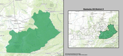 Kentucky's 5th congressional district - since January 3, 2013.