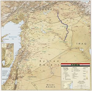 Khabur (Euphrates) - Image: Khabur River in Syria 2004 CIA map