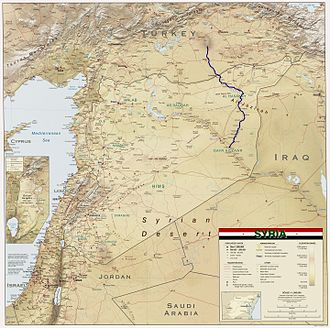 Khabur (Euphrates) - Image: Khabur River in Syria 2004 CIA map