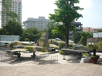 Weapons of the Vietnam War - Captured South Vietnamese warplanes in Ho Chi Minh City