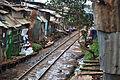 Kibera Slum Railway Tracks Nairobi Kenya July 2012.jpg