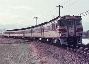Shiokaze (train) - KiHa 181 series DMU on Shiokaze service in 1985