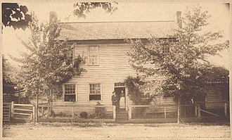 Kingston, Tennessee - Building in Kingston used briefly as Tennessee's state capitol in 1807, photographed in 1889
