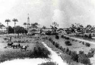 Georgetown, Guyana - A view of the Kingston section of Georgetown in the 19th century.