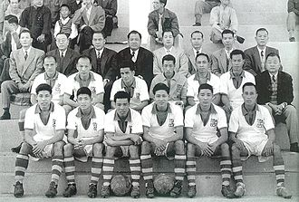 Kitchee SC - Kitchee squad in Macau ahead of a charity exhibition match in 1959.