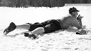 1960 Winter Olympics - Klas Lestander during the 1960 Olympic biathlon competition