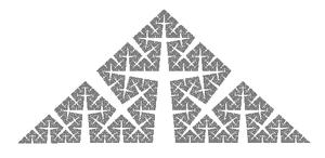 Koch snowflake - Cesàro fractal