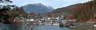 Schönau am Königsee - View of Königssee harbor