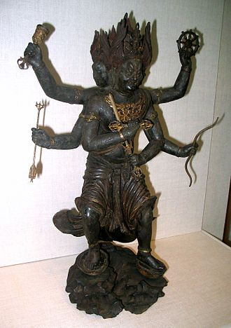 Wisdom King - Image: Kongo Yasha wood statue