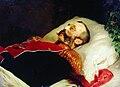 Konstantin Makovsky Alexander II na smertnom odre 1881.jpg