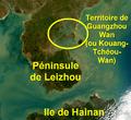 """Kouang-Tchéou-Wan (""""GuangzhouWan"""") - Fort Bayard - Péninsule de Leizhou.png"""