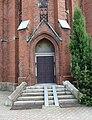 Kravaře, kostel svatého Bartoloměje, vchod (2).JPG