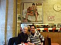 Kris and Roger at a cafe in Paris.jpg