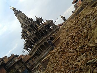 Patan Durbar Square - Destruction in earthquake