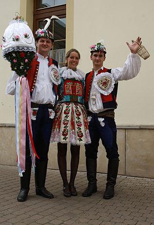 Wine festival - The costume of Dolní Němčí in Uherské Hradiště, the Czech Republic