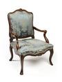 Länstol, del av möbelgrupp, 1700-tal - Hallwylska museet - 109820.tif