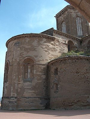 Pere de Coma - Detail of the Seu Vella, the old cathedral of Lleida, of which Pere de Coma was the first architect.