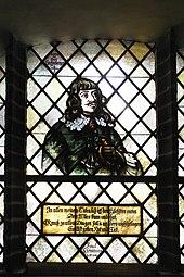 Paul-Fleming-Glasfenster in der Paul-Gerhardt-Kirche in Lübben (Quelle: Wikimedia)