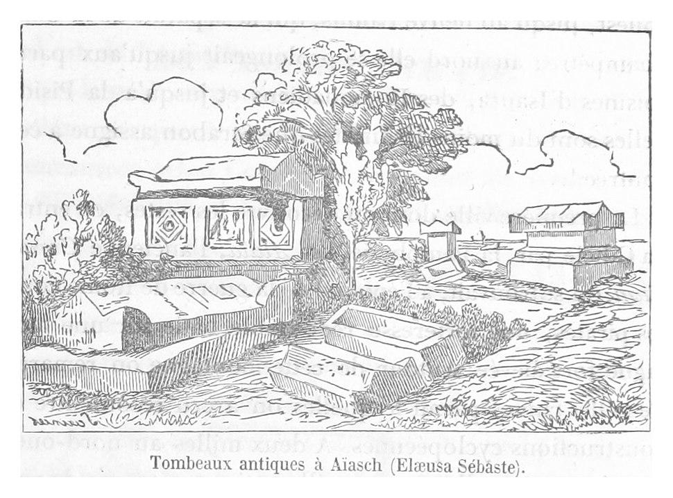 LANGLOIS(1861) p203 Tombeaux antiques a Aiasch