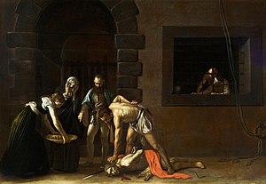 La Decapitacion De San Juan Bautista Caravaggio Wikipedia La