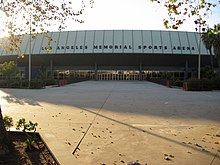L'entrée du Los Angeles Memorial Sports Arena.