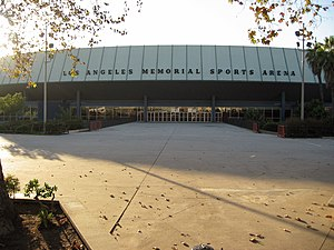 Venues of the 1984 Summer Olympics - A 2005 image of the Los Angeles Memorial Sports Arena. The arena hosted the 1984 Summer Olympic boxing competitions.