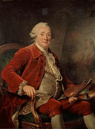 Charles-Amédée-Philippe van Loo - Portrait of Charles-Amédée-Philippe van Loo by Adélaïde Labille-Guiard